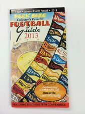 New! 2013 Peek' Size Collector's Favorite Football Guide ~ Knoxville Tennessee