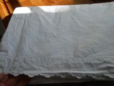 antikes Leinen Überschlag Laken, altes Leinen, altes Leintuch handgewoben 2,10 M