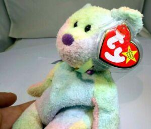 """TY Beanie Babies """"Groovy"""" USA 8"""" with tags Teddy Bear"""