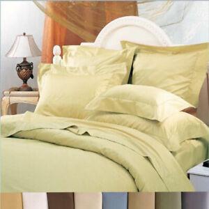 Wrinkle-Free Duvet Cover Set 650 Thread Count Cotton Blend Duvet Covers + Shams