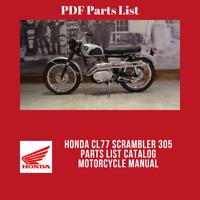 Honda CL77 Scrambler 305 Parts List Catalog Motorcycle Manual