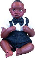 ABC Frankie Afro African American Brown Black Dark New Porcelain Baby Boy Doll