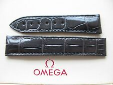 Brand New Omega Planet Ocean 18mm Dark Grey Crocodile Deployment Strap 98000347