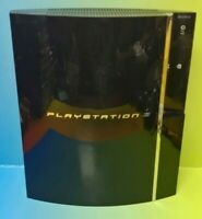 Sony Black PlayStation 3 PS3 60GB Backwards Compatible Console Only CECH-A01 ~