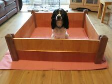 Wooden Puppy Whelping Box FlatPack Re-Usable size 90x90cm