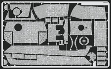PE Parts for Panther Ausf. G Early Zimmerit Horizont(tamiya) 1/35 Eduard 35393