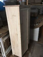 H140 W75 D35cm BESPOKE CUPBOARD 2 Door 3 Shelves Oak Top untreated unit