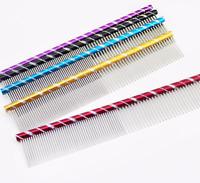 Firm Grip Pet Comb Dog Cat Metal Row Teeth Grooming Hair Brush Fur Rake Tool