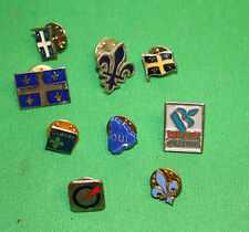 vintage lot of 9 pin back Quebec separate OUI bloc Quebecois Parti Quebecois