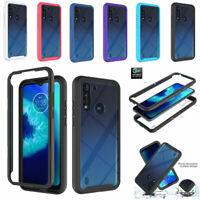 For Motorola Moto G9 Plus G8 Power Lite Shockproof Case Hybrid Clear Phone Cover