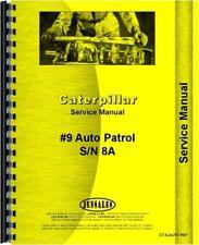 Caterpillar Auto Patrol Gas Road Grader Service Shop Manual Sn 8a1 Amp Up