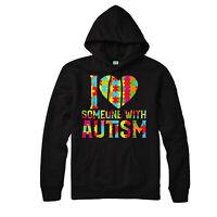 I Love Someone With Autism Hoodie, Cute, Heart Awareness Adult & Kids Hoodie Top