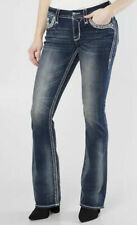 Rock Revival Glade Easy Boot Stretch Jeans Women's Size 27 Dark Blue NEW $169