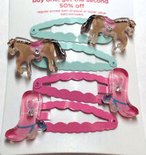 Gymboree Park City Luke Line NWT Horse Barrettes Clips Boots CowGirl Cute Pony