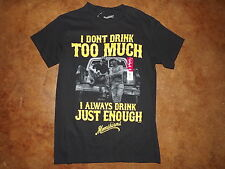 NWT Mens S 34/36 Moonshiners  I Don't Drink too much just Enough ss blk t shirt