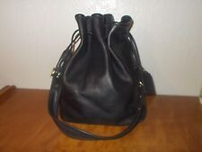 Coach Legacy 9165 Black Leather Drawstring Bucket Shoulder Handbag Purse