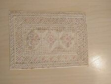 "Dollhouse Miniature 1:12 Scale Floor Carpet Woven Area Rug  4"" x 5 1/4""  white"