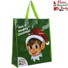 grande verde elfo Compras Bolsa Regalo Tienen Un Travieso Navidad BEHAVIN MAL