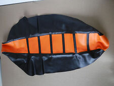 FLU PRO BLK RIBBED GRIPPER SEAT COVER TEAM KTM SX SXF XC XCF 2011-2015