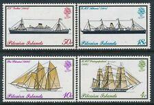 1975 PITCAIRN ISLAND MAIL BOATS SET OF 4 FINE MINT MNH