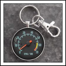 Vintage Chevy Chevelle Tachometer Photo Keychain Gift 🎁 Key Fob Key Ring