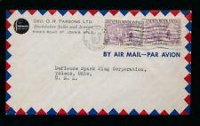 NEWFOUNDLAND 1947 AUTOMOTIVE ADVERTISING ENV.STUDEBAKER SALES G.PARSONS AIRMAIL