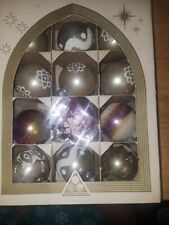 Vintage American Made Mercury glass ornaments In their original box (12)