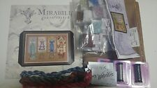 Dressmakers' Daughter Mirabilia MD121 chart with Fabric and beads and threads
