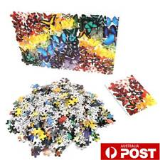 Jigsaw Puzzles 1000 Piece Rainbow Butterfly Kids DIY Puzzles Toys Education AU