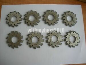 Lot 8pcs Dp14 14-1/2 degree 1set 1#-8# Involute Gear Cutters Dp14 Gear Cutters