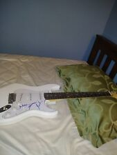 Runaway June Country Musicans Band Signed Irin White Full Size Guitar