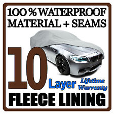 10 Layer Car Cover Breathable Waterproof Layers Outdoor Indoor Fleece Lining Fix