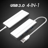 Silver 4-Port USB 3.0 Ultra Slim Compact Data Hub USB-A HUB for Macbook Pro/mini