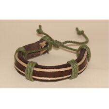Armband Leder Armband Manschette Armreif braun creme khaki grün verstellbar Handgelenk