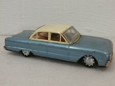 """Rosko Tested Sanko Y Brand Made in Japan Tin Friction 9"""" Ford Falcon Toy Car"""