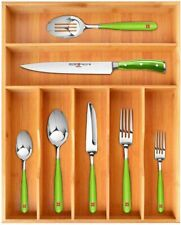 Bamboo Kitchen Drawer Organizer Tray for Flatware - Best Cutlery Tray for Silver