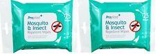 50 X Anti Moustique Répulsif Insecte Moucherons Nuisibles Lingette Vacances Bite