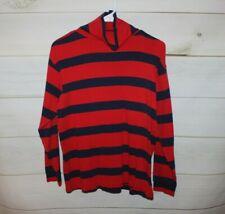 Boys' 160 cm (14) Hanna Andersson Red Striped Cotton Turtleneck Shirt