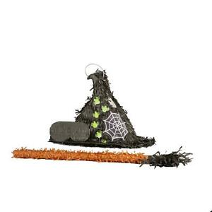 Halloween Witches Hat Pinata Party Set Scary Spooky Party Game Decoration Stick