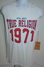TRUE RELIGION Man's ATHLETIC DEPARTMENT 1971 Sleeveless T-shirt NEW Size Large