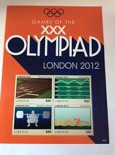 London Olympic Games 2012 Liberia sheet