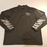 Nike NFL Tennessee Titans Size XXL Platinum Fly Rush 2.0 Half-Zip 597648-060 Top