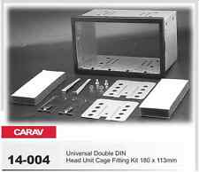 Carav 14-004 Car Radio Installation Frame Universal Double ISO 2-DIN Box of
