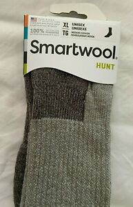 Smartwool Hunt Hike Medium Cushion Crew Sock -  XL Taupe Fits Shoe size 12-14.5
