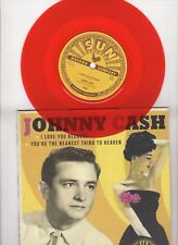 """RARE 1000 Made Johnny Cash I Love You Because RSD 2018 Orange 45 Sun Records 7"""""""