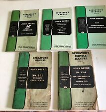 John Deere Operators Service Manual LOT of 5, Circa 1940
