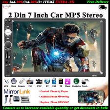 7'' 2 DIN Pantalla Táctil Coche Radio Estéreo MP5 TF/USB/AUX/FM/Remote Bluetooth