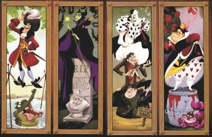 Haunted Mansion Stretching Portraits Disney Villains 11x17 Poster Print