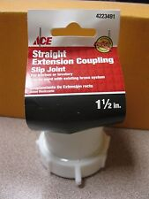 "Ace Straight Extension Coupling #4223491 1-1/2"" Slip Joint NEW Free Shipping"