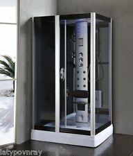 Square Steam Shower Enclosure w/Hydro Massage.Bluetooth Audio 6 Year Warranty